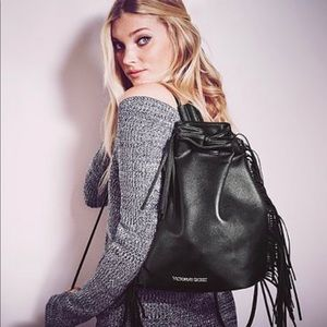 Victoria's Secret Vegan Leather Fringe Backpack